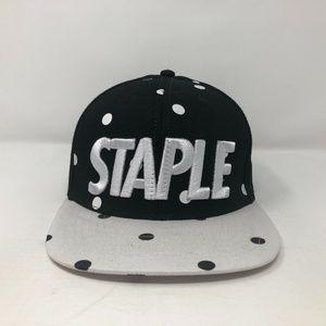 Staples Snapback Hat Streetwear Polka Dots